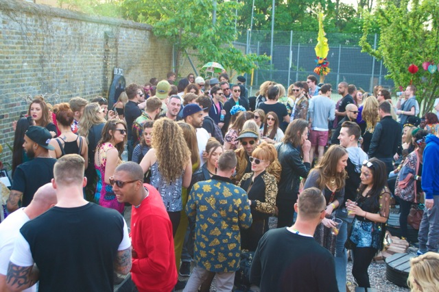 Daytime outdoor crowd shot - The Wick