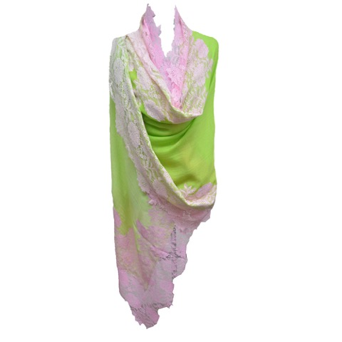 SKU # OMB-400; Style-Ombre; Color-Lime Green-Pink.