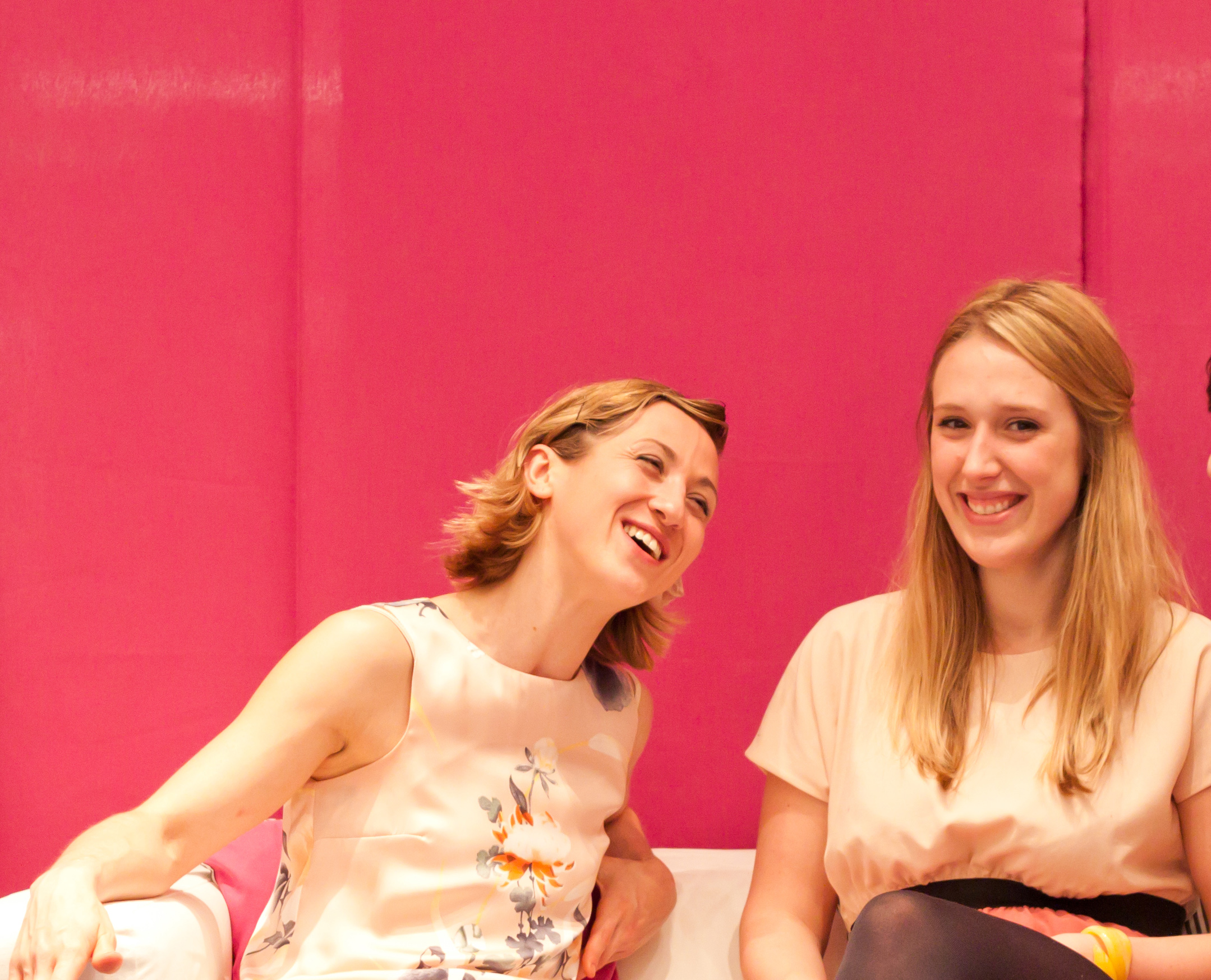Happiness Project c-founders Lucy Barfoot and Lucy Duggan