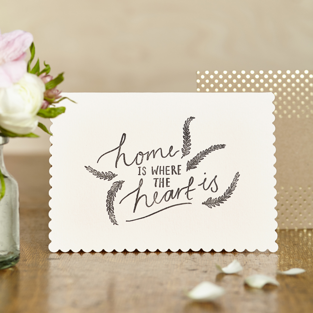 Luxe 'home is where the heart is' Card