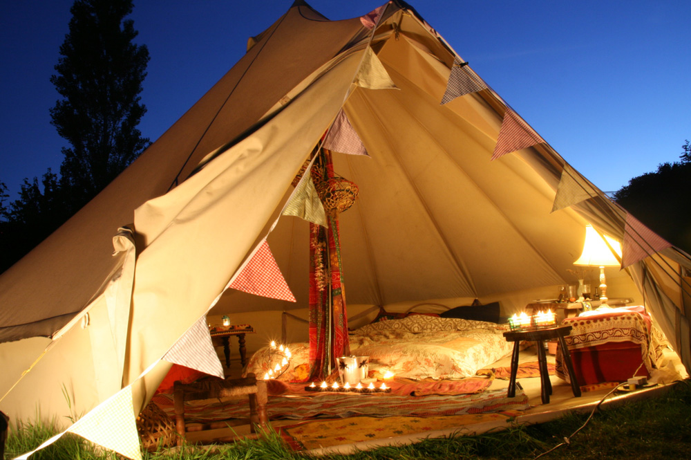 Sandstone Bell Tent & Who Needs A Hotel When You Can Go Boutique Camping! | House of Coco