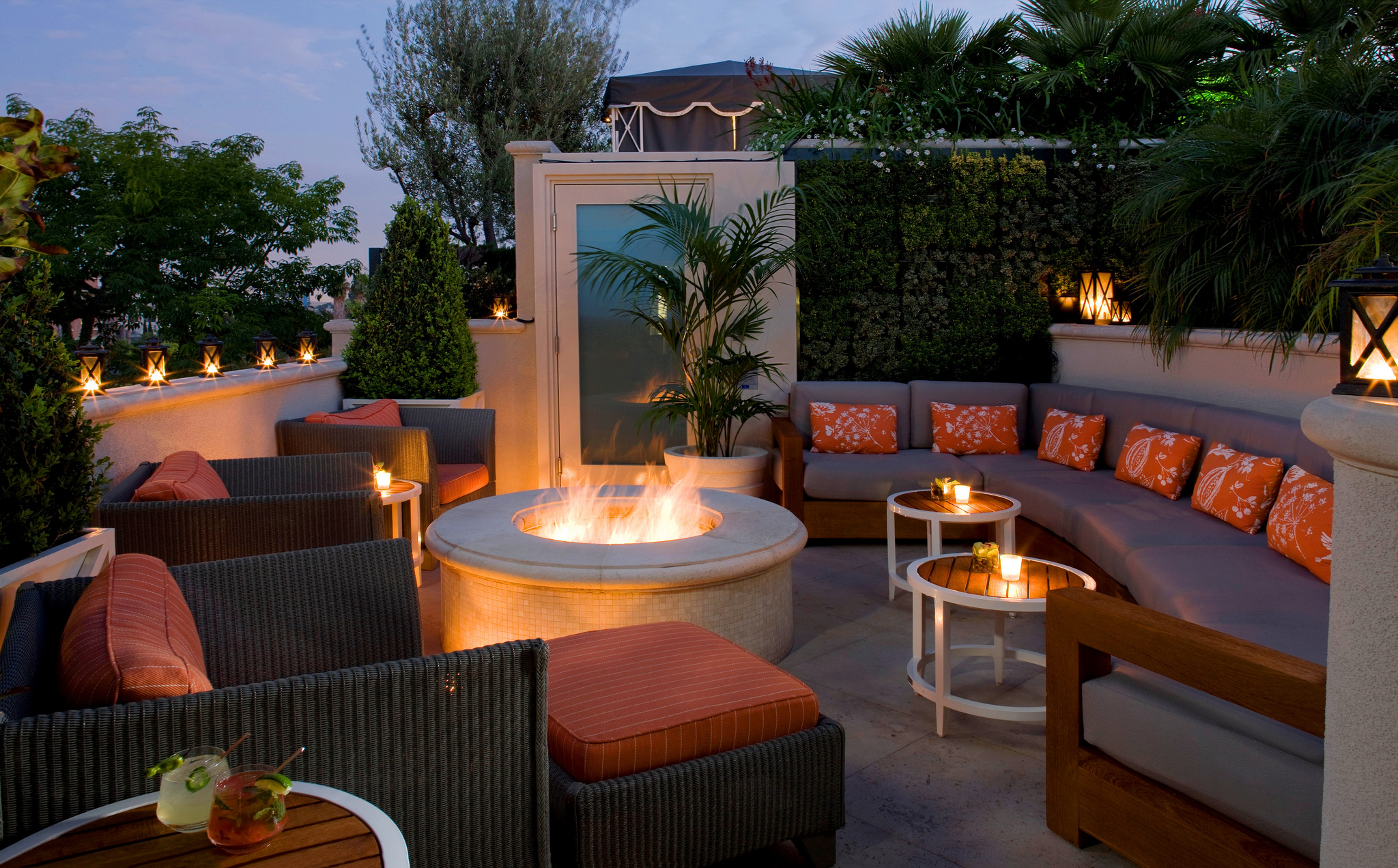 The Peninsula Beverly Hills Fire Pit