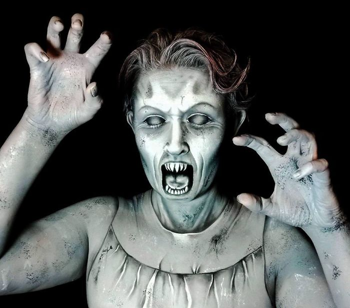 makeup artist nikki shelley paints the most scary halloween masks ever