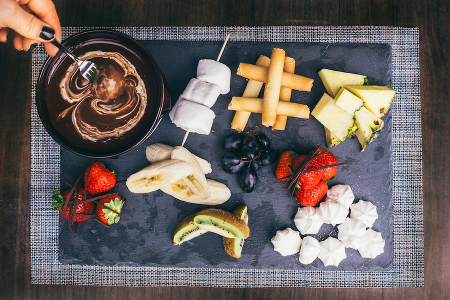Swiss inspired Chocolate Fondue