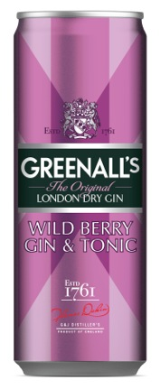 Greenall's Wild Berry Gin & Tonic Cocktails in a Can