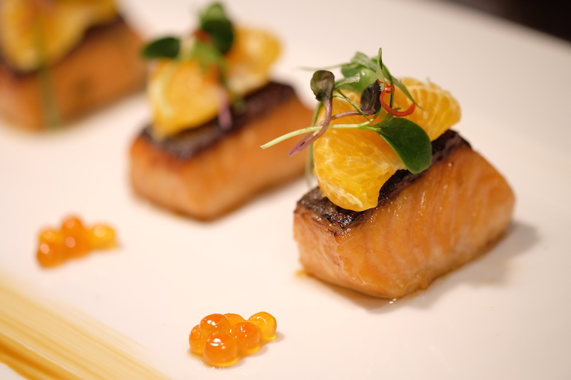 Chai Wu Ladies Lunch_Crispy Charcoaled Salmon Marinated in Manuka Honey, Shaoxing Wine & Mandarin 2
