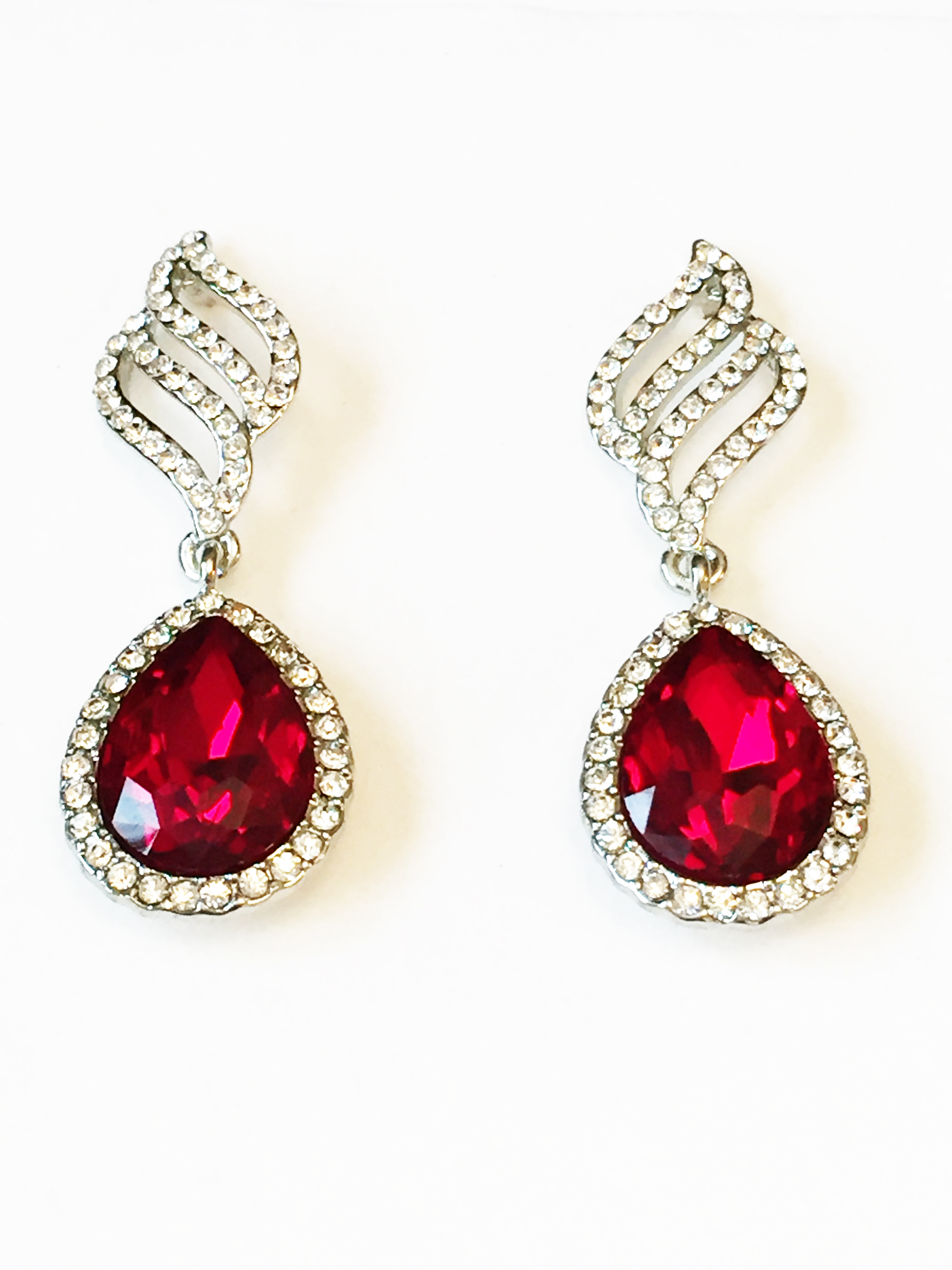 Rich Red Drop Earrings