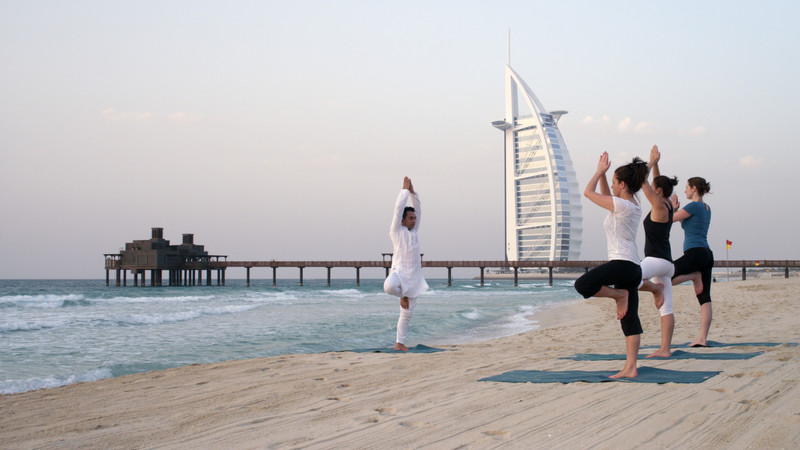 Yoga at Jumeirah's Al Qasr Beach