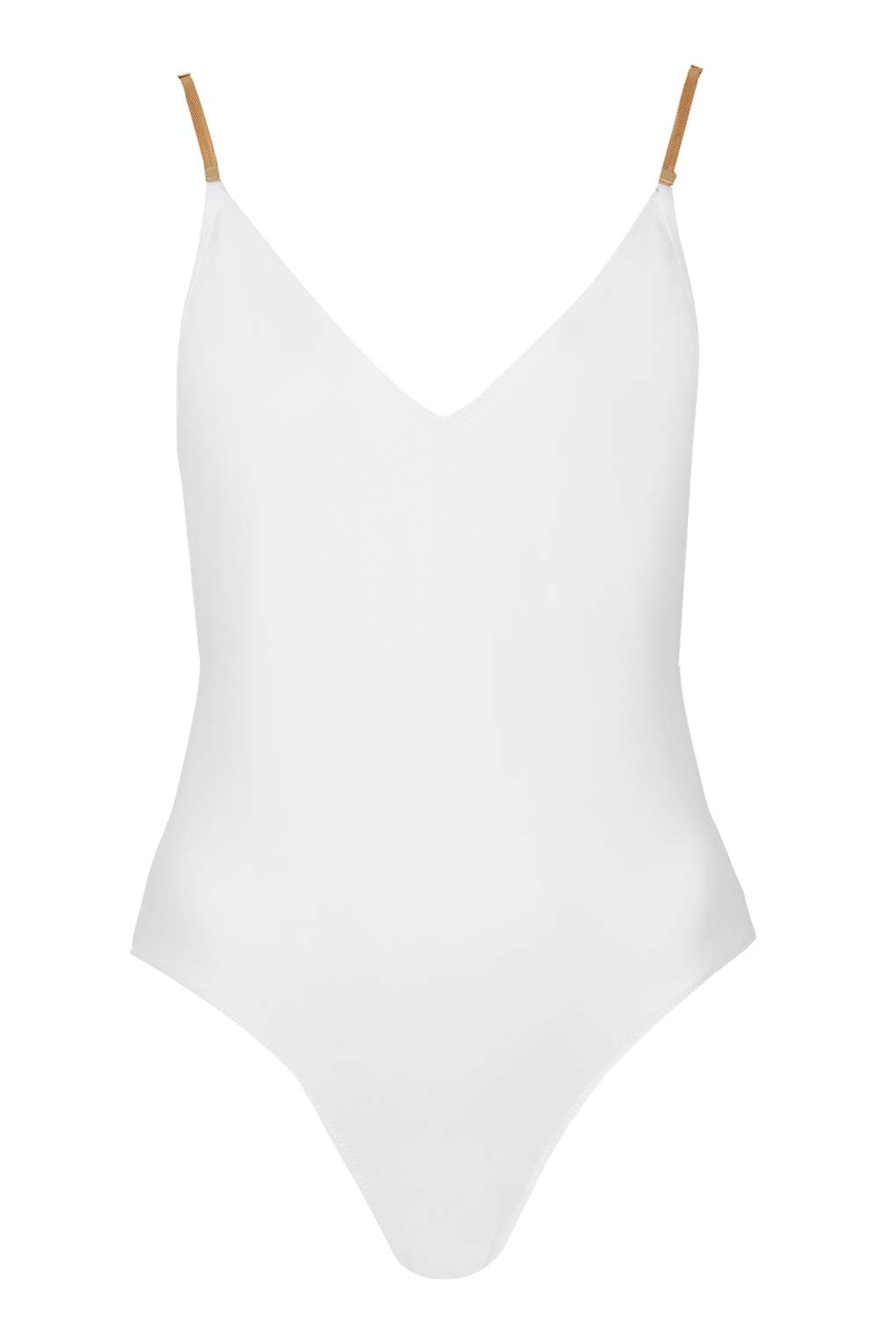Gold Chain Strap Swimsuit by Topshop