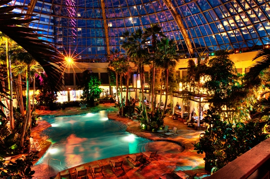 Harrahs Indoor Pool During The Summer Atlantic City