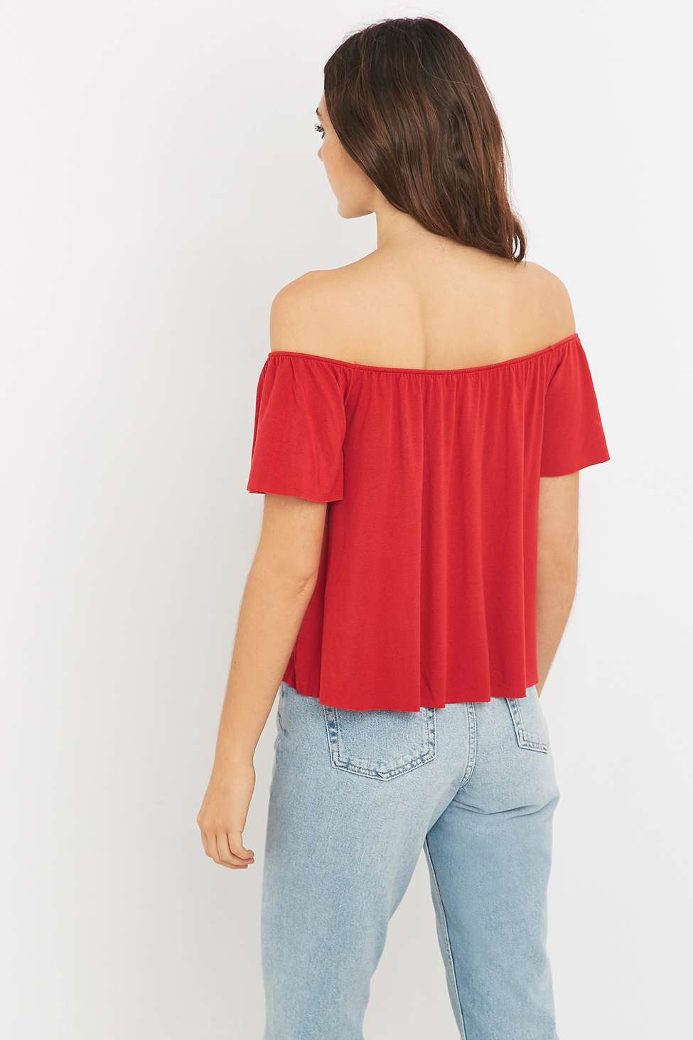 light before dark off shoulder top