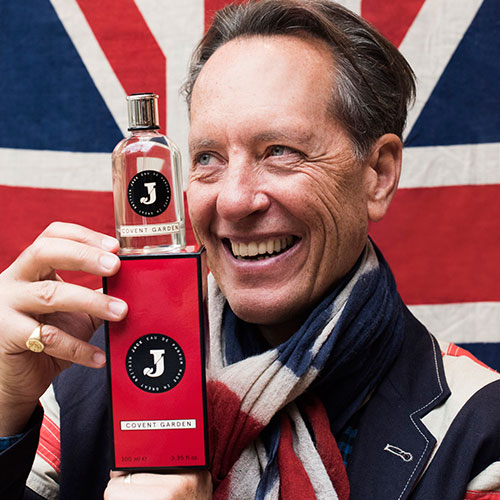 Richard E Grant with JACK fragrance