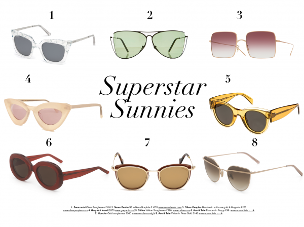 sunnies. superstar. sunglasses. luxury. fashion.