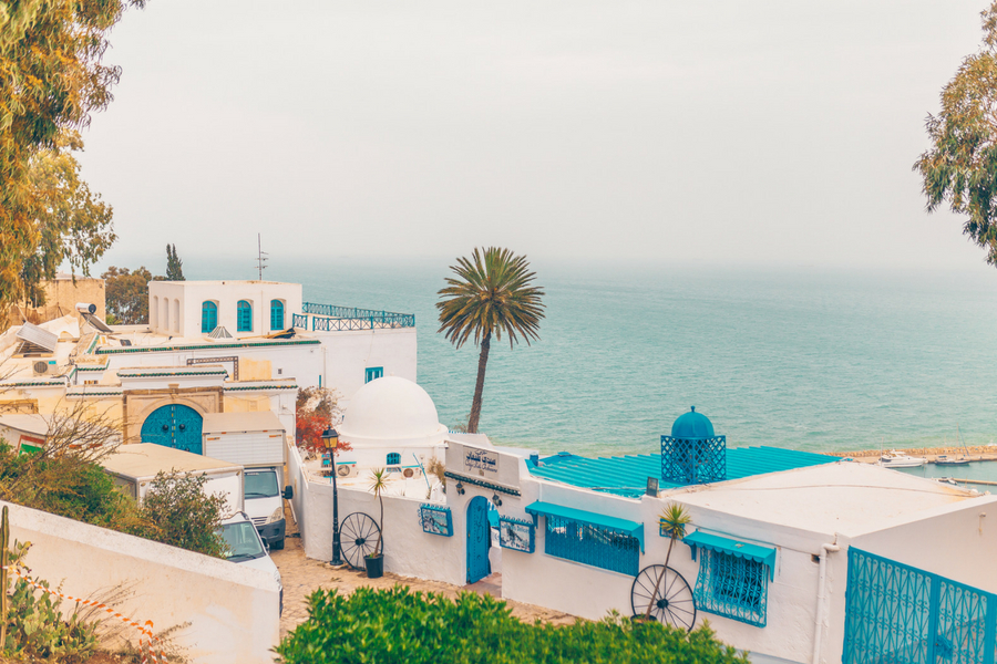 View of the Gulf of Tunis