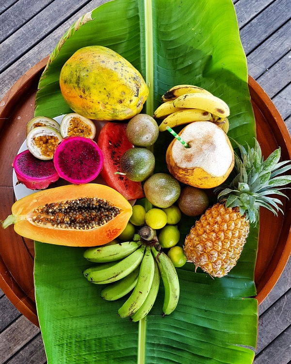 Fruit basket at Shangri La Le Touessrok Resort and Spa Mauritius