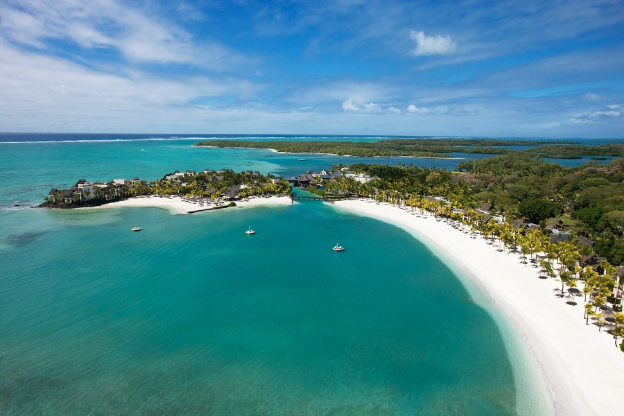 Aerial View of luxury resort in Mauritius | Shangri-La's Le Touessork Resort & Spa