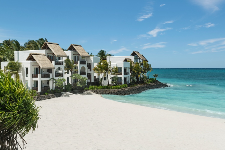 View of exclusive luxury rooms at Shangri-La's Le Touessork Resort & Spa, Mauritius