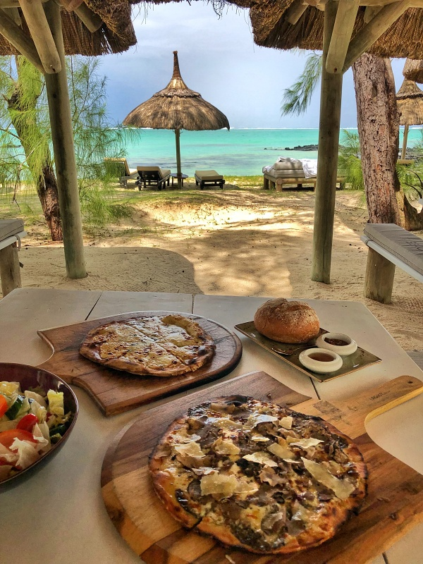 Truffle Pizza at Ilot Mangenie island owned by Shangri La Mauritius
