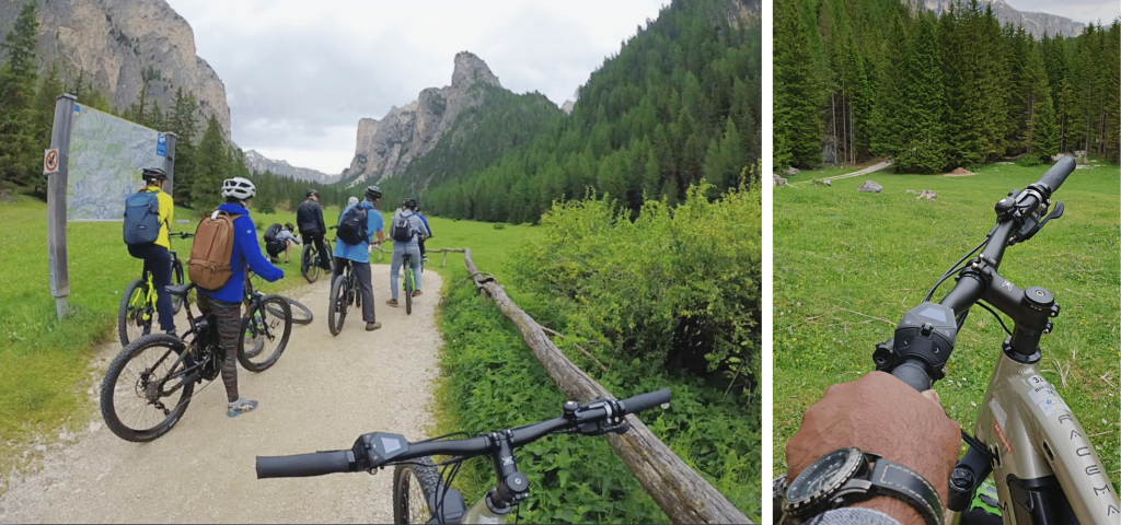 Cycling in Val Gardena, Dolomites, South Tyrol