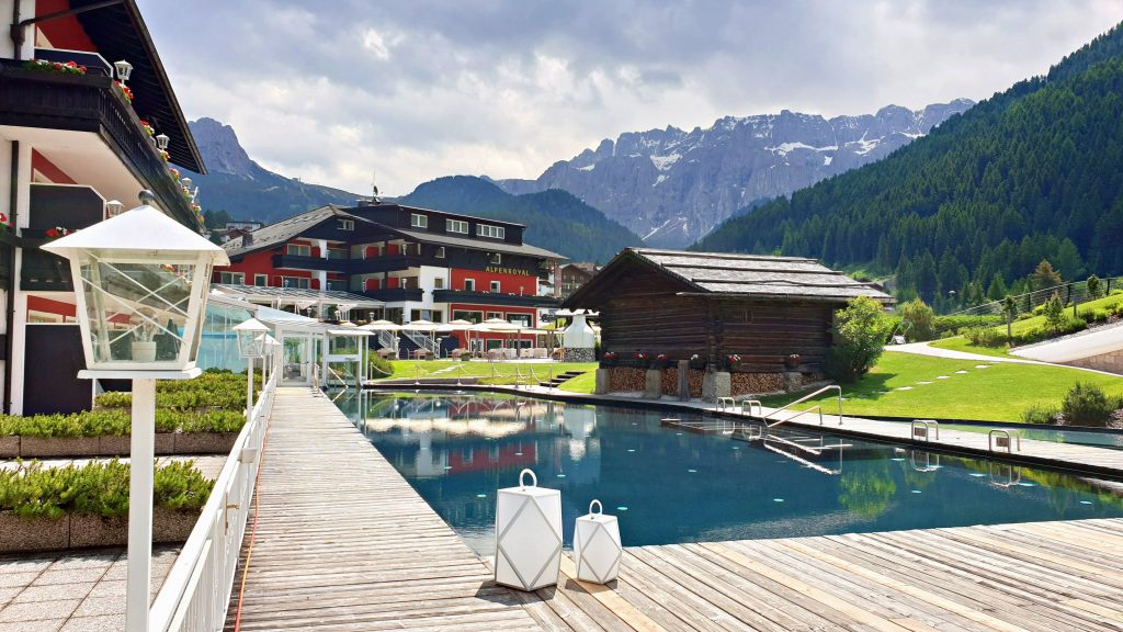 View of Alpenroyal Grand Hotel, Selva Val Gardena