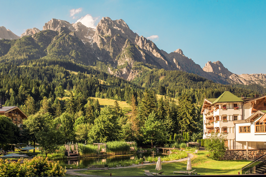 View of Leogang Steinberg from Hotel Forshtofgut Leogang