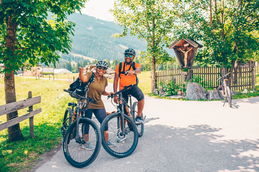 Cycling in Saalfelden Leogang, summer activity in Austria