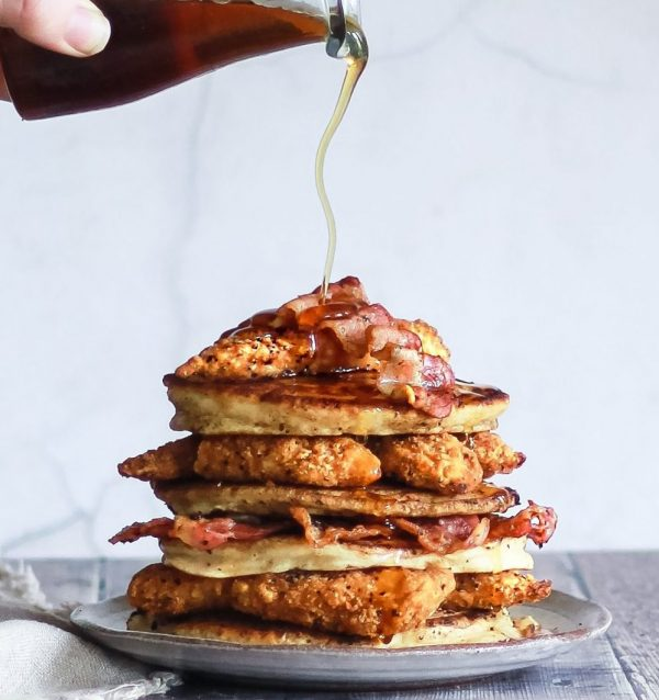 american pancakes fried chicken bacon maple syrup recipes cooking home
