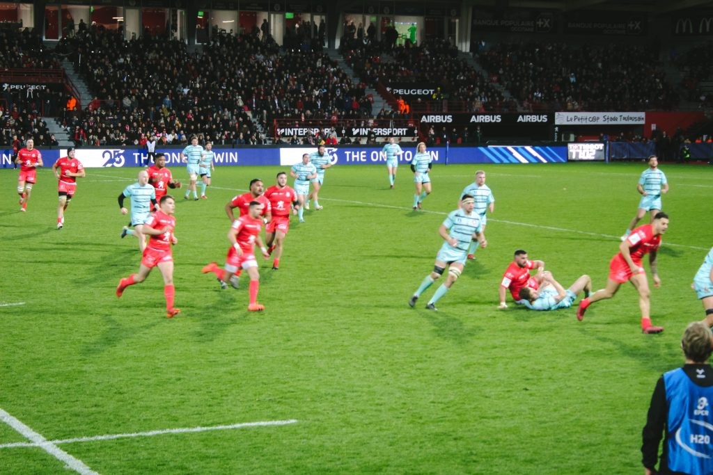 Toulouse Rugby Gloucester match France Europe