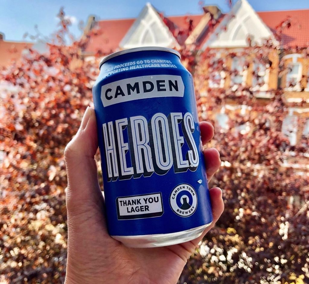 Camden Heroes Lager NHS Free Frontline Charity